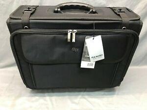 Solo Rolling Laptop/Catalog Case Ballistic Poly 18-3/4 x 9 x 15-1/2 Black