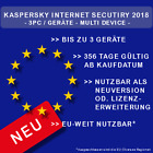 Kaspersky Internet Security 2017 / 2018 3 PC / Geräte - 365Tage- Multi Device -