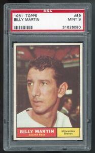 1961 Topps #89 Billy Martin New York Yankees PSA 9 MINT SET BREAK!