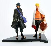"Naruto Movie The Last Uzumaki Sasuke Uchiha Figures Anime Toy 2 pcs New 16cm 6"""