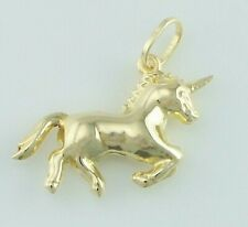 New 9ct Yellow Gold Unicorn Charm / Pendant