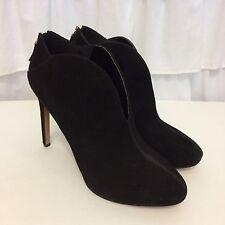 NINE WEST 'Nero' Black Suede Booties Shooties Stiletto Heels Shoes 11 M New $119