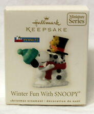 Hallmark Peanuts Winter Fun with Snoopy Miniature Ornament 2008