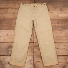 "Mens Vintage Filson 80s Beige Cotton 79 Trousers USA Talon 42"" x 33"" XR 9276"