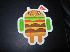"ANDROID DROID Hamburger Burger bot robot logo Sticker 2.5"" Google andrew bell"