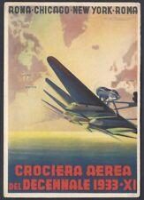 CARTOLINA Militare 1933 Crociera del Decennale NUOVA (F9)