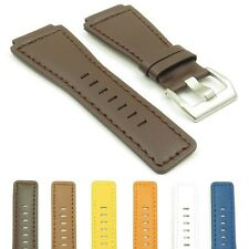 DASSARI Magnum Smooth Genuine Leather Watch Band Strap for Bell & Ross 24mm