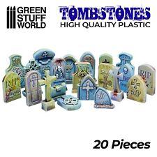Set 20x Lapidas Cementerio Plastico - Modelismo Miniaturas Warhammer Renedra