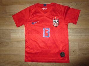 Alex Morgan #13 US Soccer Olympics Jersey Youth Girls Small S 6-8