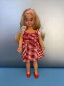Vintage 1960's Blonde TUTTI Doll w/ Original Pink Hair Band & Dressed w/ Shoes