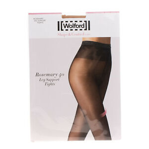 WOLFORD Rosemary 40 DEN Leg Support Tights Size XL Shape & Control Shimmer