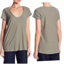 James Perse  Deep V Neck Tee T-Shirt Top Signet Women Size 4 New