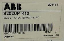 NEW IN BOX! ABB S202UP-K10 Miniature Circuit Breaker