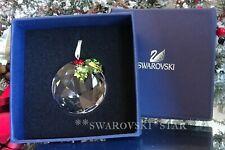 2006 - 2007 *Mib* Swarovski Crystal Holly Window Christmas Ornament #870003