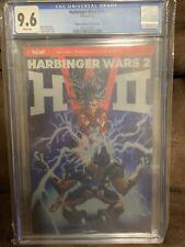 Valiant HARBINGER WARS 2 #1 Brushed Metal CGC 9.6 1:250