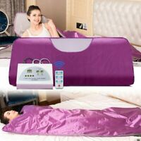 Far Infrared Sauna Blanket Detox Slimming Suit Home Spa Weight Loss Machine 110V