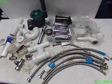MIXED LOT OF BATHROOM PLUMBING SS WATER HOSE, TUB SPOUTS, SHOWER HOSE, VALVES
