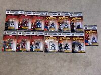 Marvel Nano Metalfigs Lot of 13 Spiderman Iron Man Black Widow Venom Vision Fury