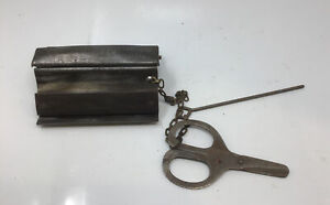 """Clipper No. 0  4"""" Vise Type Belt Lacer Lacing Tool W/ Pin & Scissors Free Ship"""