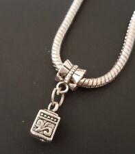 Present Gift Wish Box Dangle Slider Bead Large Hole fits European Charm Bracelet