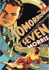 TOMORROW AT SEVEN (1933) **Dvd R2** Chester Morris
