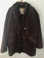 VTG Men's brown GA Italian Textile Group shearling coat size XL made in Italy