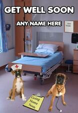 HOSPITAL A5 Personalised Greeting Card Get Well Soon PIDPAM boxer