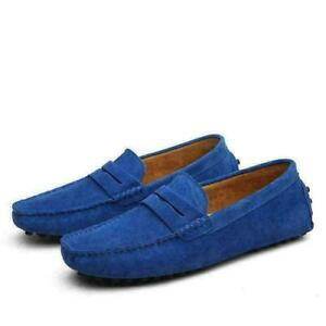 Men Casual Minimalism Driving Loafers Suede Moccasins Slip On Shoes Wholesale 7