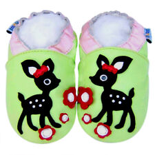 Freeship Littleoneshoes Soft Sole Leather Baby Infant Kid DeerGreen Shoes 24-30M