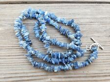 "NATURAL KYANITE STONE GEMSTONE 30"" CHIP NECKLACE"