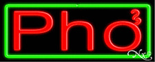 "Brand New ""Pho"" 32x13 Border Neon Sign w/Custom Options 10391"