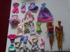 Vintage 1966 Barbie And 1968 Ken Dolls With Lot Of Genuine Barbie Clothes
