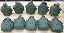 US MILITARY 1 QUART CANTEENS, OLIVE DRAB COVERS  [Qty/10] ~Gently Used~