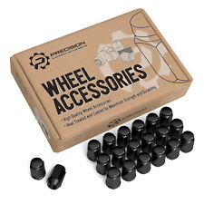 20pc Wheel Lug Nuts Acorn Bulge Black - 7/16-20 for older Chevy Buick Pontiac