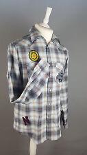VGC TOPMAN 'Ranger' Black White Brown Lumberjack Long Sleeve Shirt UK Size Large