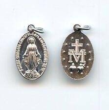 3x Wunderbare Wundertätige Medaille Mutter Gottes Latein Aluminium 25mm MED 3208