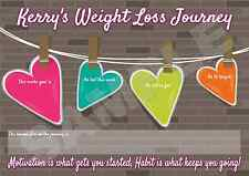 A4 Personalised Weight Loss Chart - Diet - Alternative to Plaque