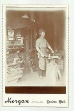 Pender NEBRASKA c1890 BLACKSMITH SHOP Interior View ANVIL FORGE Hammer WOW!!
