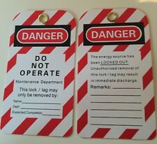 Lockout/off Danger Tags (reusable) - Do Not Operate - 1 Danger Tag