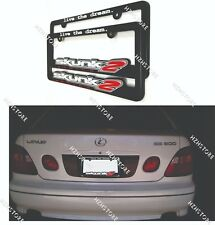 x2 Skunk2 Racing License Plate Frame - Live The Dream For HONDA/ACURA UNIVERSAL