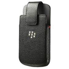 Holster Leather Swivel Holster for Rim BlackBerry Q10 - Black HDW-50678-001