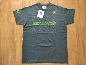 Castelli Cannondale Pro Cycling Team Men's SS T-shirt , Polo Jersey Size: M