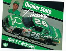 Brett Bodine Autographed 1991 Quaker State Hero Card