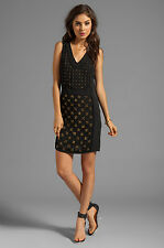 DIANE VON FURSTENBERG (DVF) Black 'Twiggy' Hot Fix Check Dress Size 6 NWT $645