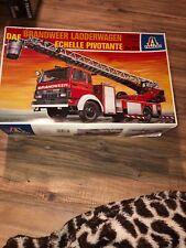 """Italeri Fire Engine """"DAF Brandweer Ladderwagen Echelle Pivotante"""" 1/24th #784"""