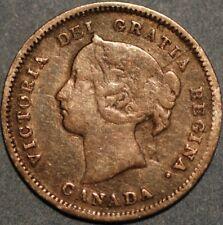 Canada 5 Cents 1885 Victoria Queen silver KM#2