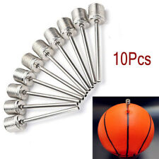 10x Sports Inflating Needle Pins Nozzle Basketball Football Soccer Ball Air Pump