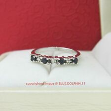Genuine Diamond Sapphire Solid Silver Engagement Wedding Ring White Gold Finish