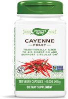 Nature's Way Cayenne Pepper 180 Veg Capsules | Circulatory Health Circulation