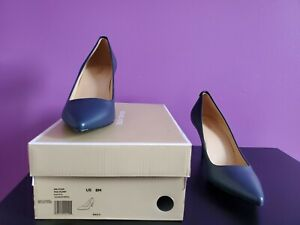 New Michael Kors Flex Leather Pump women shoes sz 8M navy mother day gift